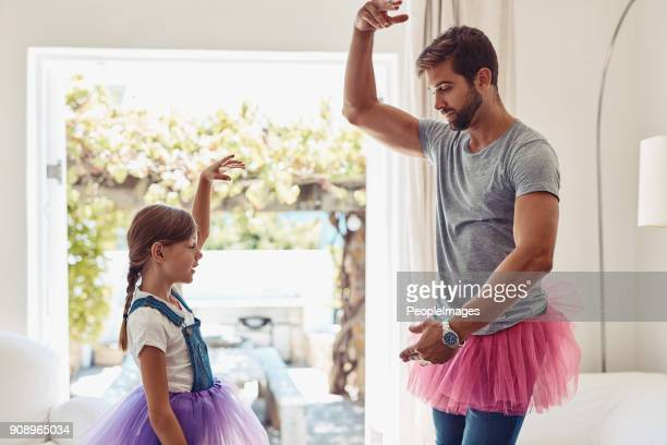 who says dads can't dance? - father stock pictures, royalty-free photos & images