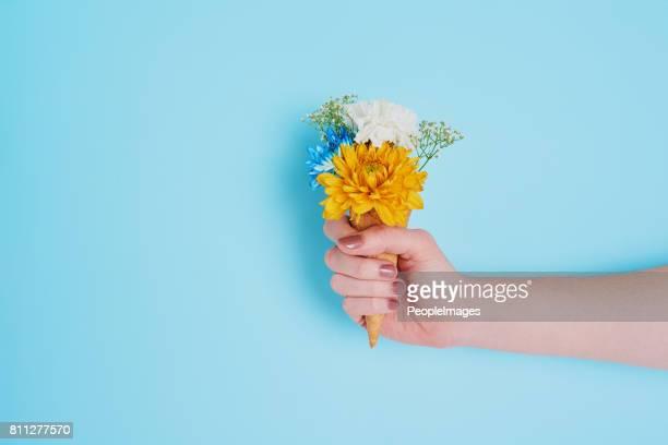 Wer sagt, dass Sie nicht haben Blumen und ihn auch Essen?