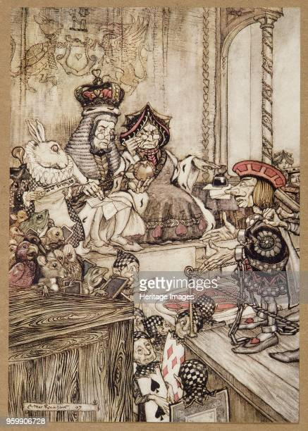 Who Stole the tarts from Alice's Adventures in Wonderland by Lewis Carroll pub 1907 colour lithograph