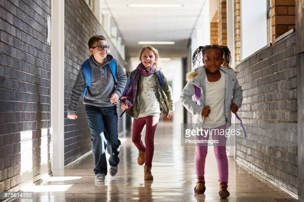 who will get to class first - children only stock photos and pictures