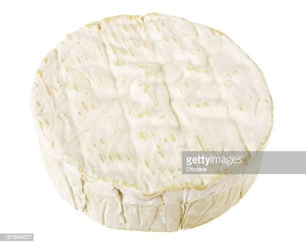 Gesamte Camembert-Käse, isoliert auf weiss