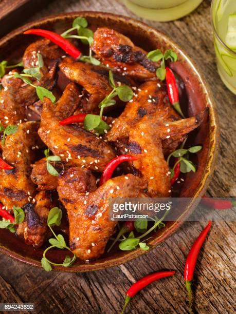 BBQ ganze Chicken Wings