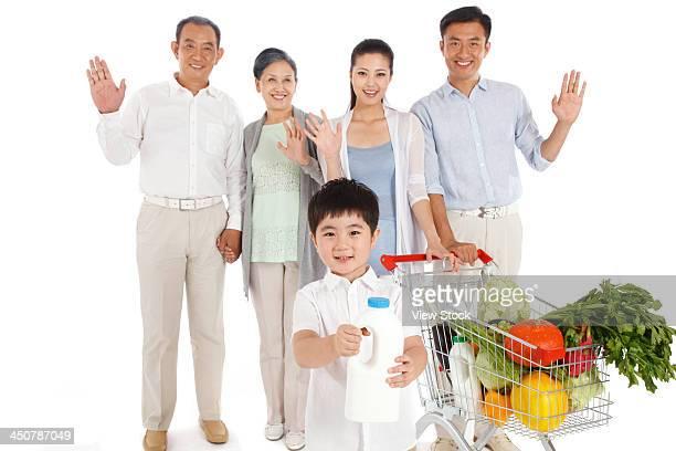 Whole family shopping