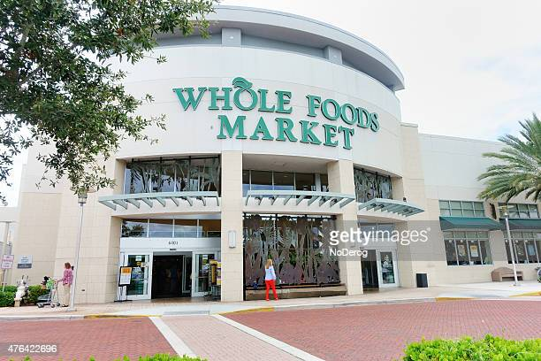 whole foods market supermarket - whole foods market stock pictures, royalty-free photos & images