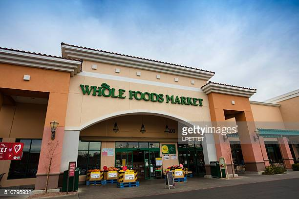 whole foods store front - whole foods market stock pictures, royalty-free photos & images