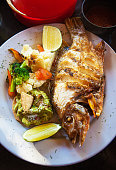 whole fried snapper mexican style