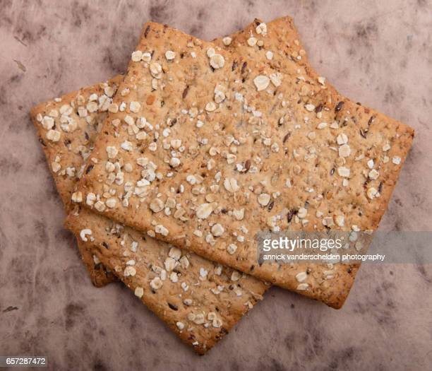 Whole grain oatmeal crackers.