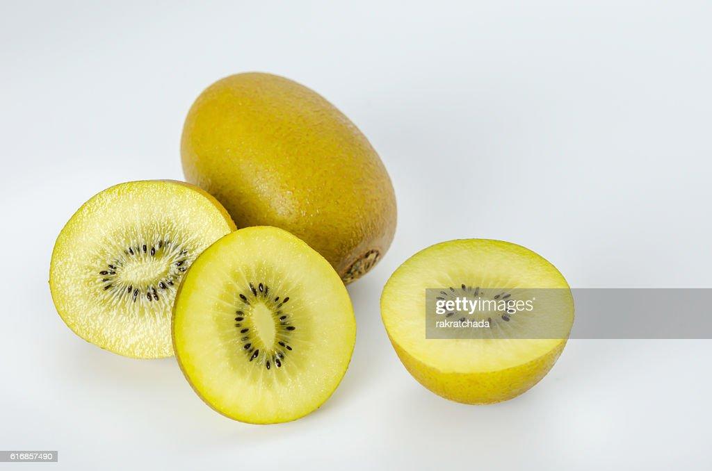 whole kiwi fruit and half : Stock Photo