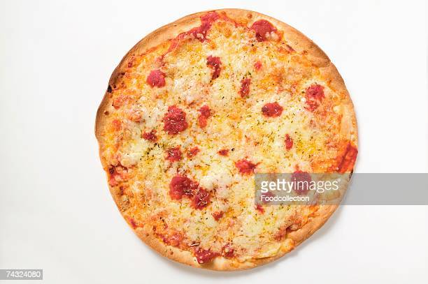 whole pizza margherita - cheese pizza stock photos and pictures