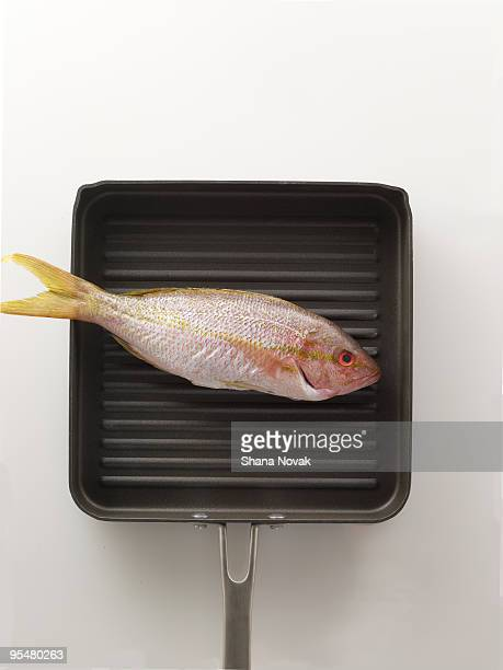 Whole Red Snapper in a Grill Pan