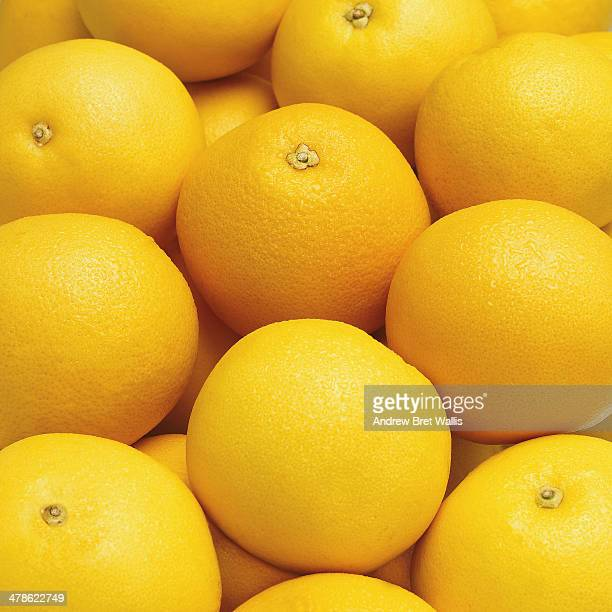 Whole ripe grapefruit
