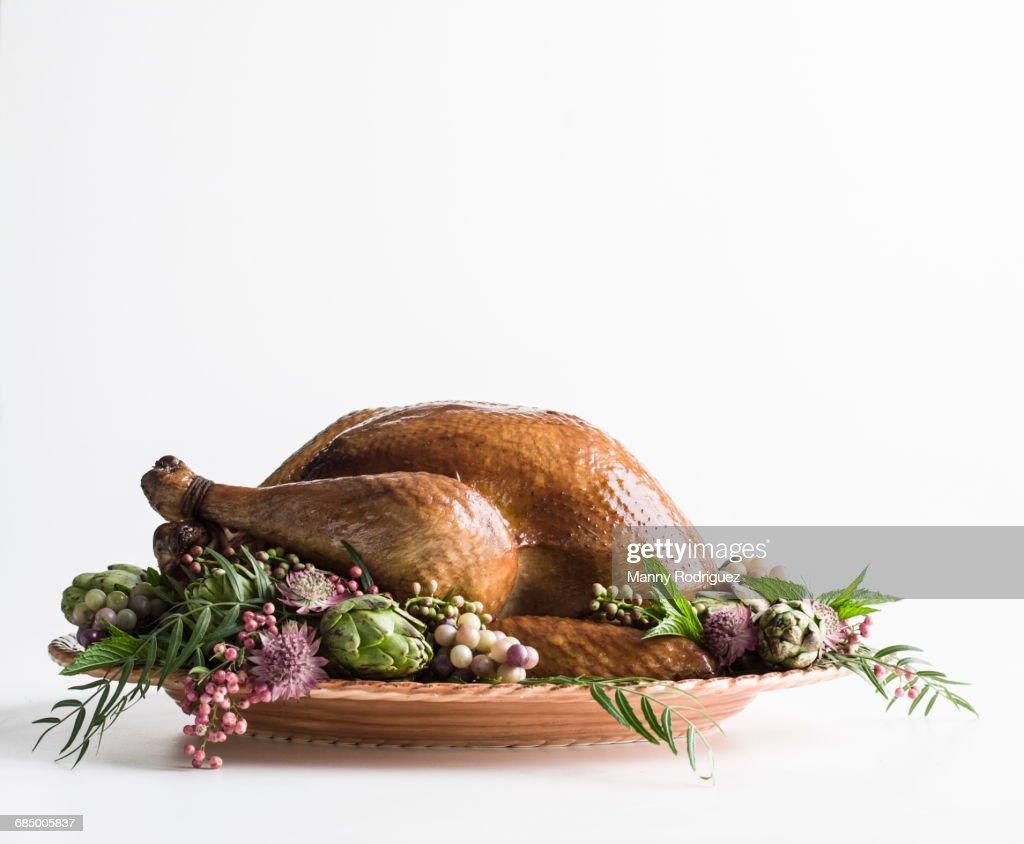 Whole roasted turkey : Stock Photo