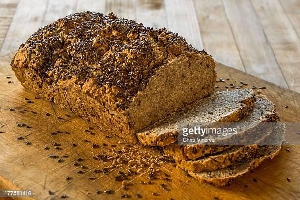 Whole Wheat Beer Bread Half Sliced