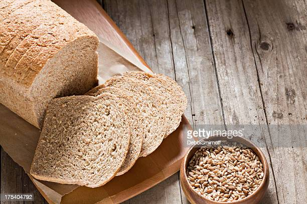 whole wheat bread - whole wheat stock pictures, royalty-free photos & images