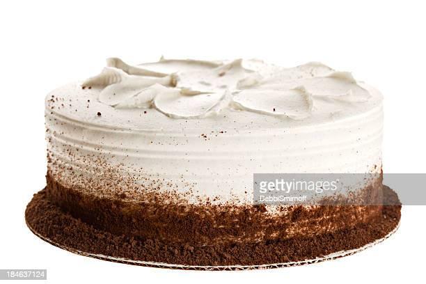 全体にホワイトのケーキ