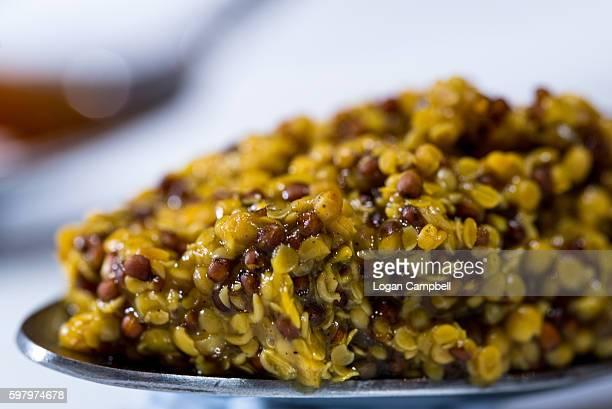 Wholegrain Mustard On Spoon