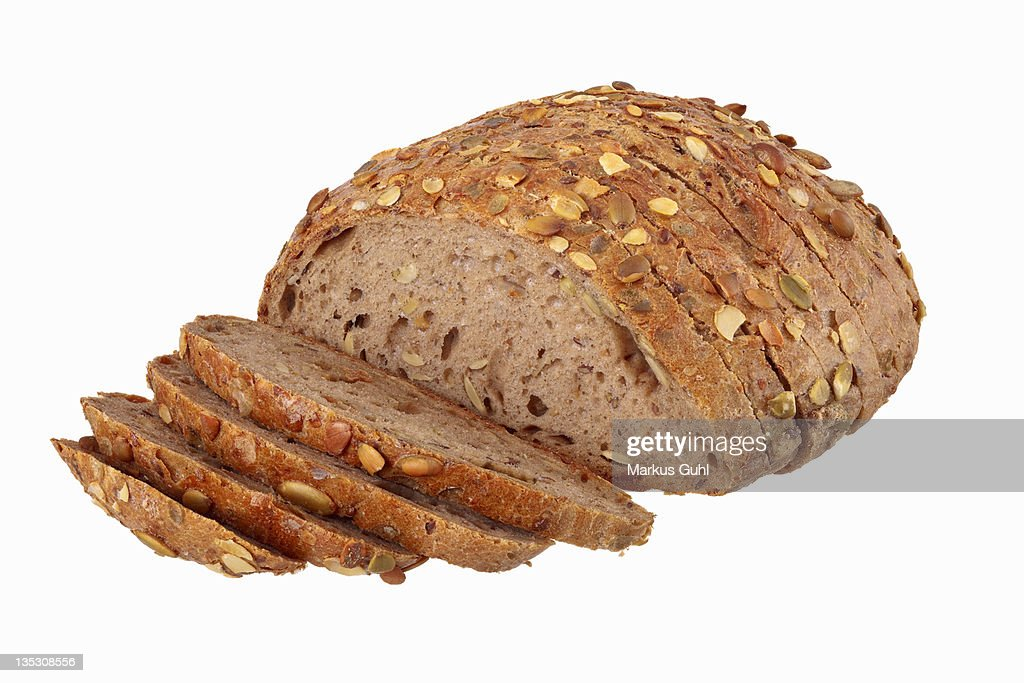 Wholemeal bread with pumpkin seeds : Stock Photo