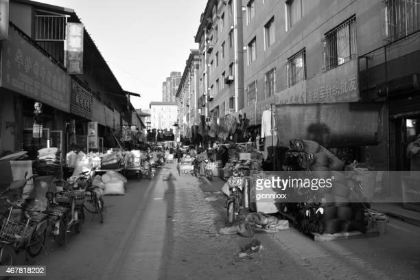 wholesale mercado de rua, interior da mongólia em hohhot-china - hohhot - fotografias e filmes do acervo