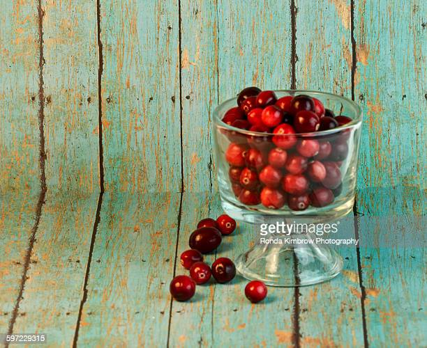Wholesome cranberries in a bowl