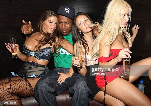 Whoo Kid and adult Film Stars Gina Lynn and Madelyn Marie attend the The Lingerie Party hosted by adult entertainment stars at Greenhouse on May 20...