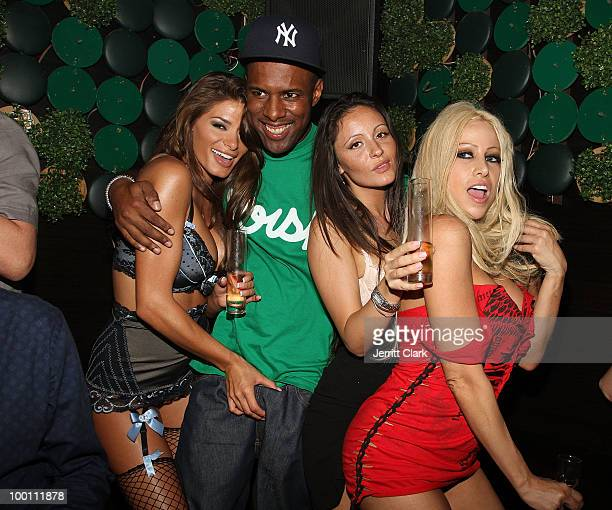 Whoo Kid and adult Film Stars Gina Lynn and Madelyn Marie attend the The Lingerie Party hosted by adult entertainment stars at Greenhouse on May 20,...