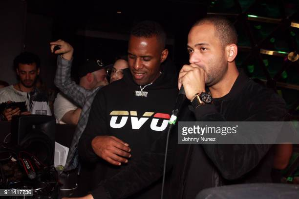 Whoo Kid and DJ E Nice spin at the Lexy Panterra PreGrammy Party at W Hotel Times Square on January 27 2018 in New York City