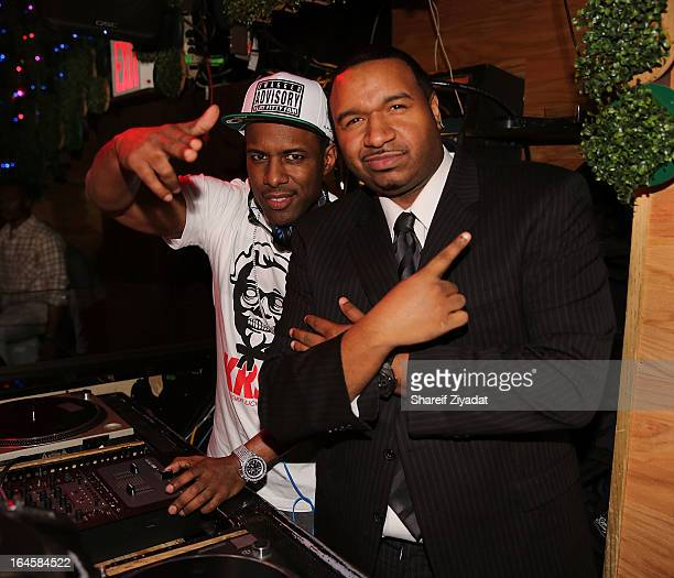 Whoo Kid and DJ Suss One attend Coco's birthday celebration at Greenhouse on March 14 2013 in New York City