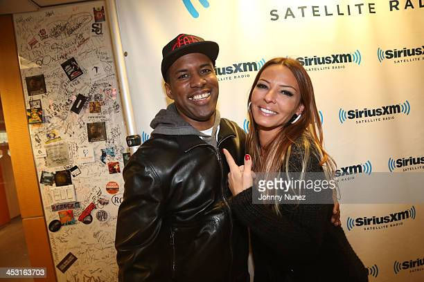 DJ Whoo Kid and Drita D'Avanzo invade The Whoolywood Shuffle at SiriusXM Studios on December 2 2013 in New York City