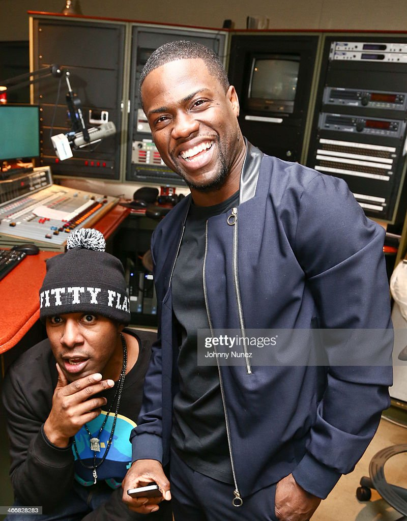 DJ Whoo Kid and Kevin Hart invade 'The Whoolywood Shuffle' at SiriusXM Studios on February 4, 2014 in New York City.