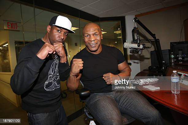 DJ Whoo Kid and Mike Tyson invade 'The Whoolywood Shuffle' at SiriusXM Studios on November 13 2013 in New York City