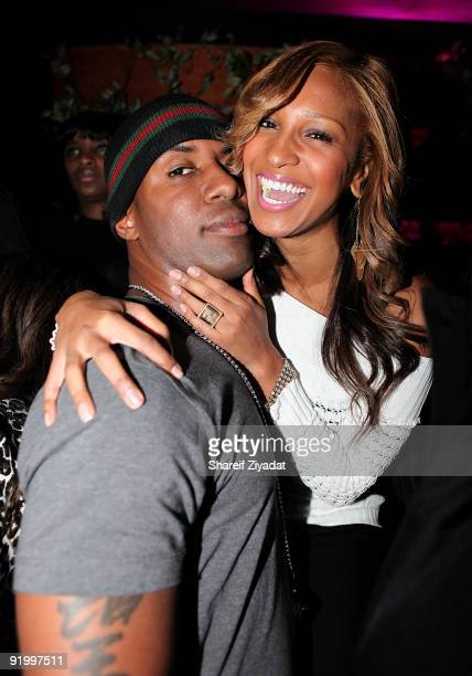 Whoo Kid and Olivia attend Dj Whoo Kid's birthday celebration at Pink Elephant on October 18 2009 in New York City