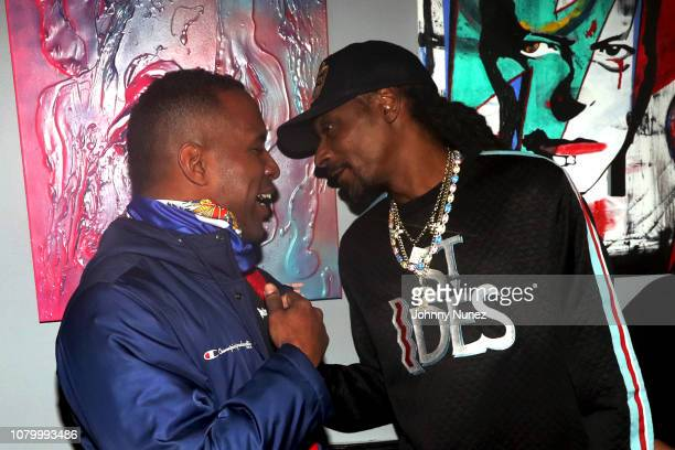 Whoo Kid and Snoop Dogg attend the Barry Mullineaux Birthday Celebration at Pomona on January 9, 2019 in New York City.