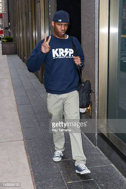 Whoo Kid enters the Sirius XM Studios on April 24 2012 in New York City
