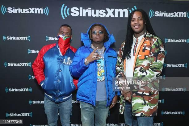 Whoo Kid Gunna and Waka Flocka Flame attend SiriusXM at Super Bowl LIII Radio Row on February 01 2019 in Atlanta Georgia