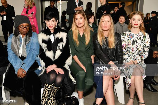 Whoopi Goldberg Amy Fine Collins Doutzen Kroes guest and Virginia Gardner attend the Jason Wu front row during New York Fashion Week The Shows at...