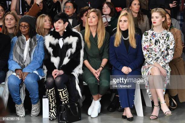 Whoopi Goldberg Amy Fine Collins Doutzen Kroes Zosia Mamet and Virginia Gardner attend the Jason Wu front row during New York Fashion Week The Shows...