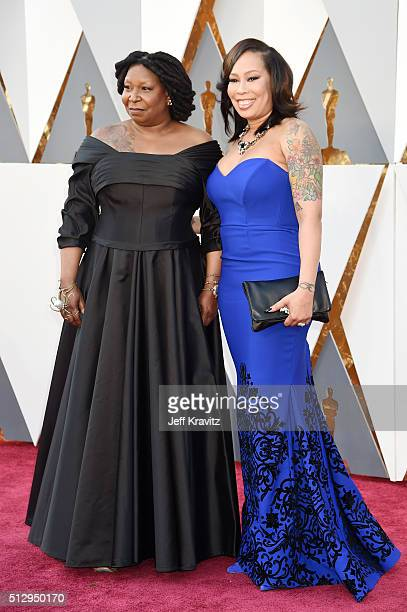 Whoopi Goldberg and Alex Martin attend the 88th Annual Academy Awards at Hollywood Highland Center on February 28 2016 in Hollywood California