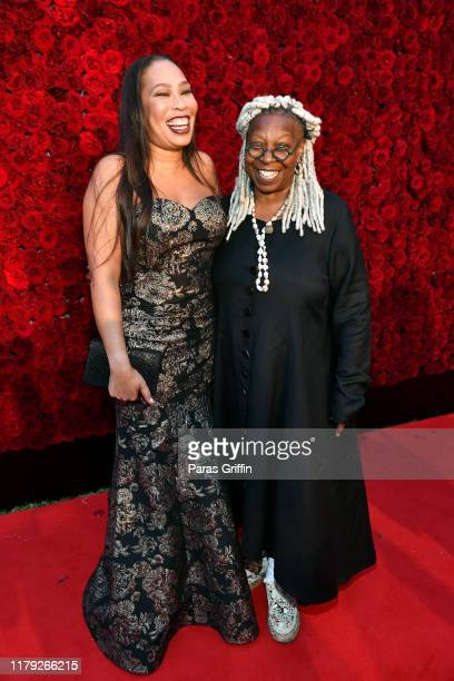 Whoopi Goldberg and Alex Martin attend Tyler Perry Studios grand opening gala at Tyler Perry Studios on October 05 2019 in Atlanta Georgia