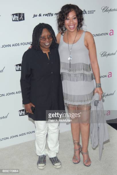 Whoopi Goldberg and Alexandra Martin attend 17th Annual Elton John AIDS Foundation Oscar Party at Pacific Design Center on February 22 2009 in New...