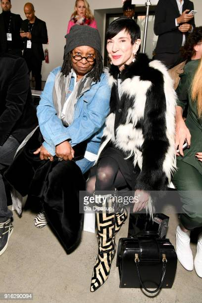 Whoopi Goldberg and Amy Fine Collins attend the Jason Wu front row during New York Fashion Week The Shows at Gallery I at Spring Studios on February...