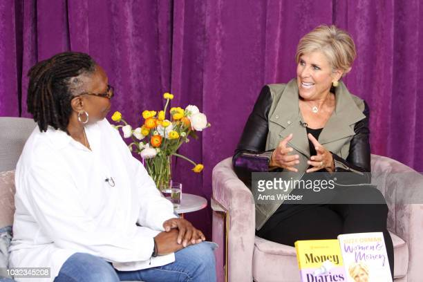 Whoopi Goldberg and author Suze Orman participate in a panel discussion during Refinery29's Money Diaries Presents A Candid Conversation About Women...