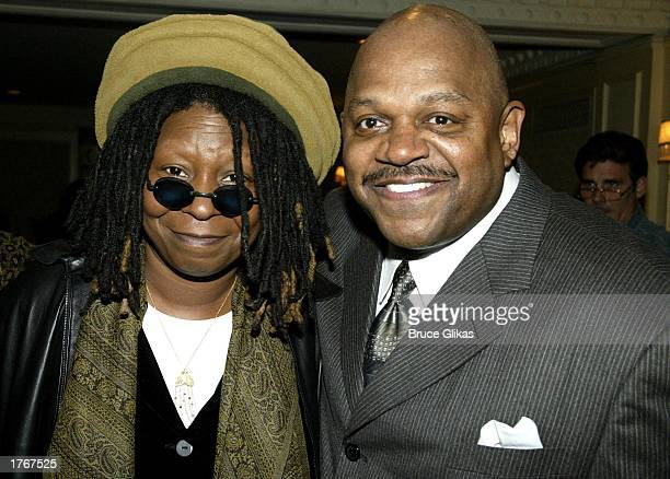 Whoopi Goldberg and Charles Dutton at The Opening Night Party for their Broadway Play Ma Rainey's Black Bottom by August Wilson at the Roosevelt...