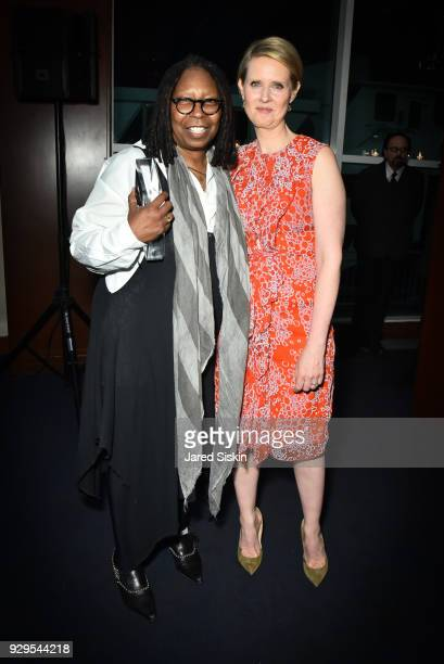 Whoopi Goldberg and Cynthia Nixon attend Bailey House Gala Auction 2018 at Pier 60 Chelsea Piers on March 8 2018 in New York City