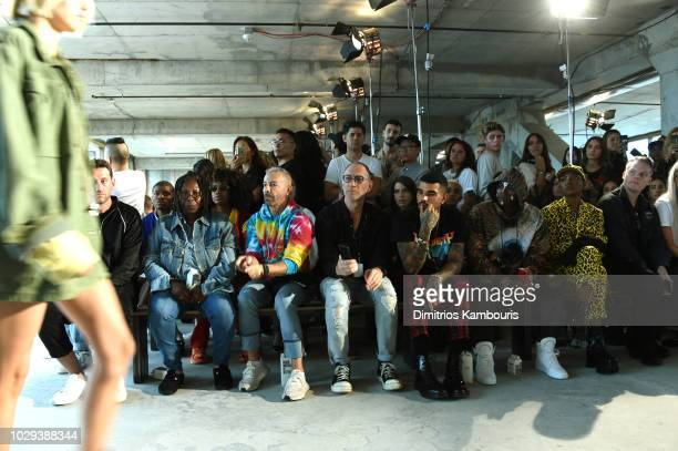 Whoopi Goldberg and Gary Wassner, Miles Brockman Richie, Young Paris and Ryan Destiny attend the R13 Front Row during New York Fashion Week on...