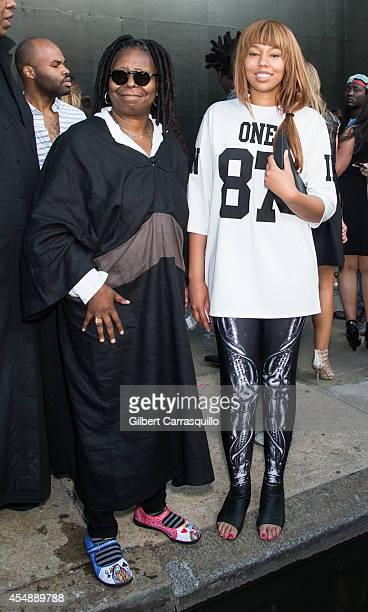 Whoopi Goldberg and granddaughter Jerzey Dean are seen at Diane Von Furstenberg fashion show during MercedesBenz Fashion Week Spring 2015 at Spring...