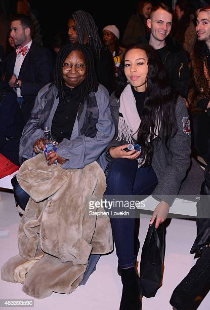 Whoopi Goldberg and granddaughter Jerzey Dean attend the August Getty fashion show during MercedesBenz Fashion Week Fall 2015 at The Salon at Lincoln...