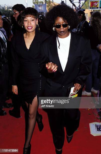 Whoopi Goldberg and her daughter Alex Martin at the 1991 MTV Video Music Awards at in Los Angeles California