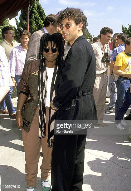 Whoopi Goldberg and Husband David Claessen during Celebrity Sightings at Lakers Basketball Game June 15 1987 at The Forum in Los Angeles California...
