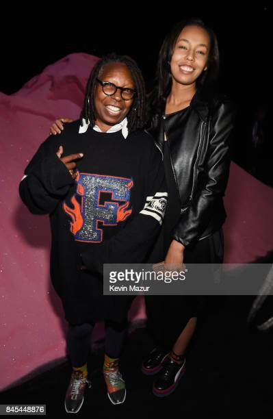 Whoopi Goldberg and Jerzey Dean attend the FENTY PUMA by Rihanna Spring/Summer 2018 Collection at Park Avenue Armory on September 10 2017 in New York...