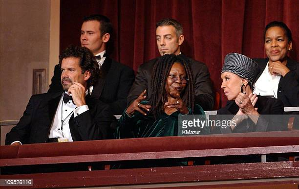 Whoopi Goldberg and Julie Belafonte are photographed at the show On Stage at the Kennedy Center The Mark Twain Prize will air November 21 at 9 pm on...